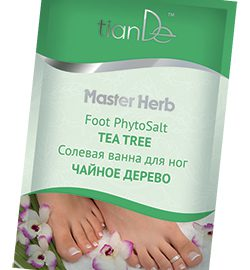 """Soľný kúpeľ na nohy """"čajovníkový strom"""", Master Herb 50 g"""
