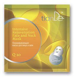 """Intenzívna omladzujúca maska na tvár a krk """"Q10"""", 1 ks"""