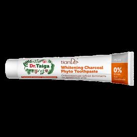 """Bieliaca zubná fyto-pasta na báze dreveného uhlia """"Dr. Taiga"""", 75 ml"""