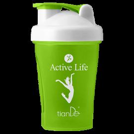Kokteilový shaker Active life, zelený;  1 ks