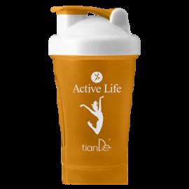 Kokteilový shaker Active life, oranžový;  1 ks
