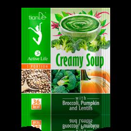 Krémová polievka s brokolicou, tekvicou a šošovicou, 25 g